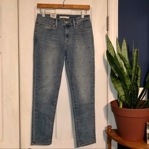NWT Levi's 711 Skinny Ankle with Rhinestones